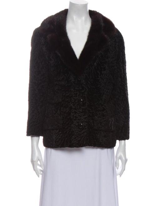 Fur Shearling Fur Jacket Black