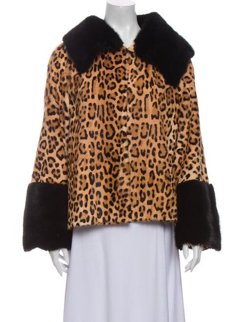 Fur Ponyhair Animal Print Fur Jacket