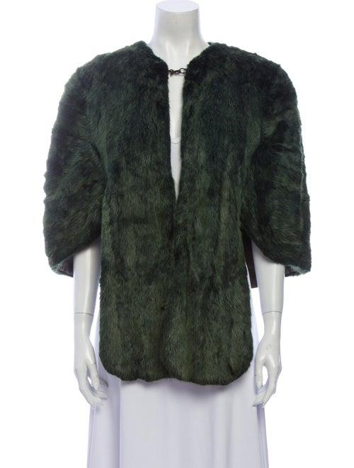 Fur Faux Fur Jacket Green