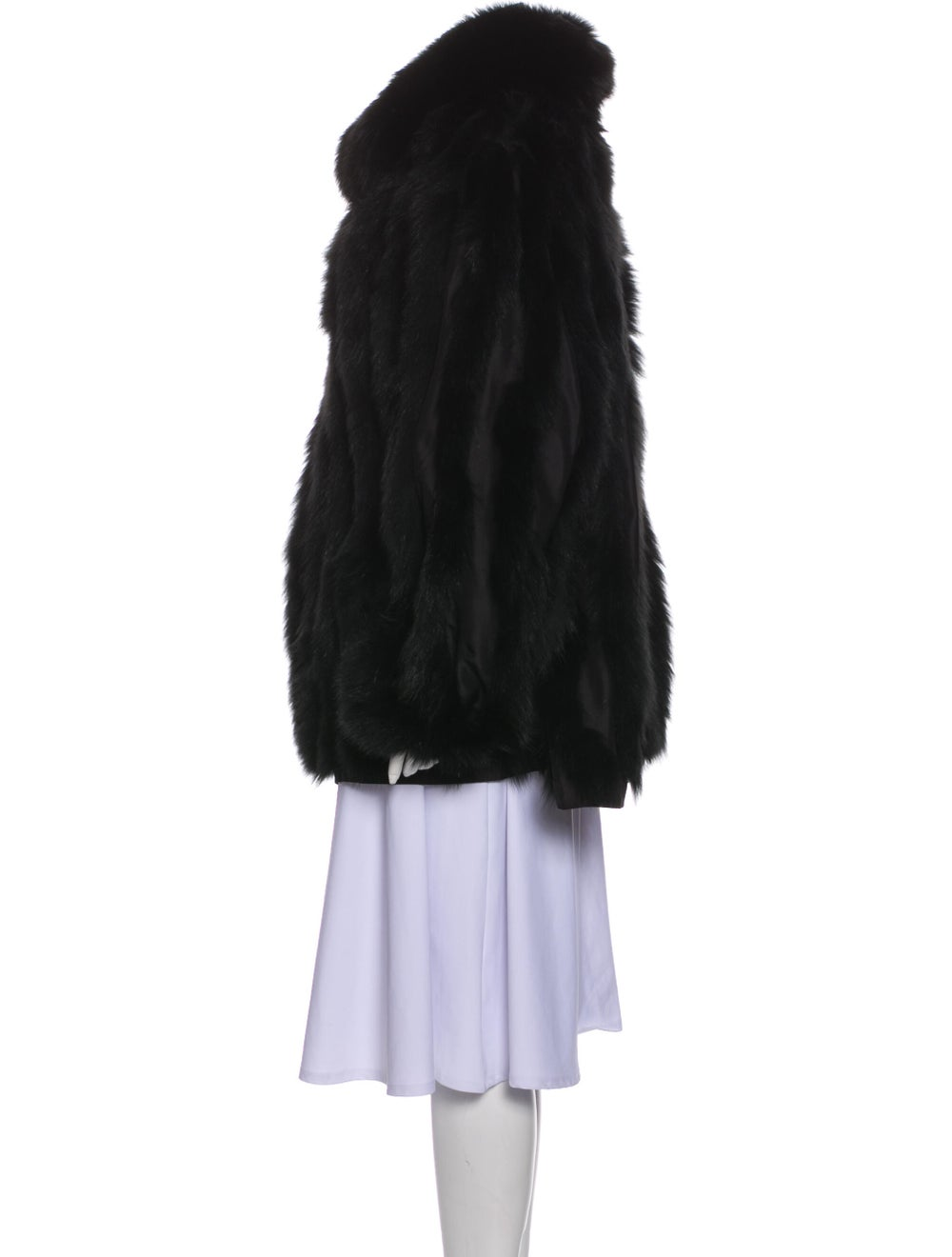 Fur Coat Black - image 2