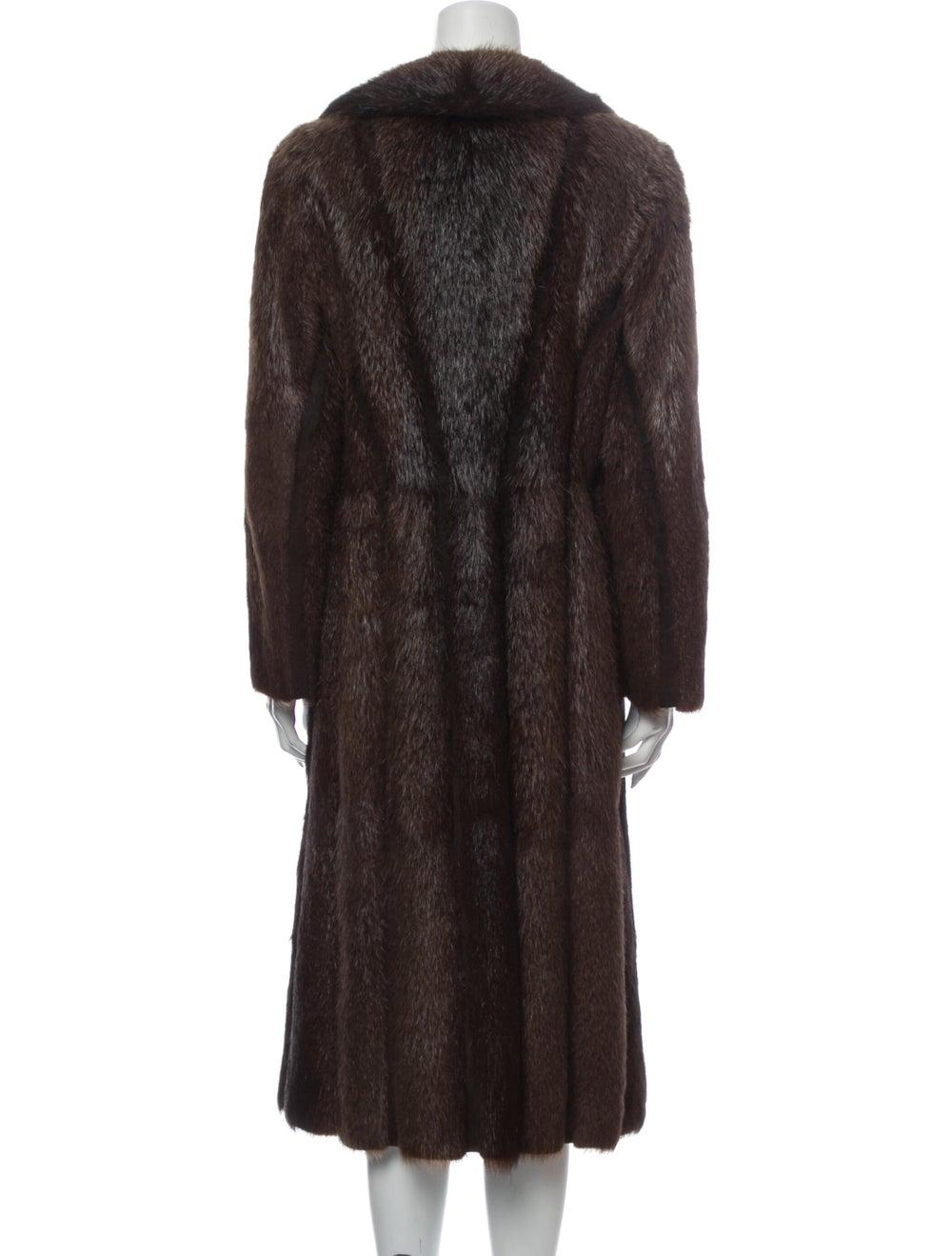 Fur Fur Coat Brown - image 3