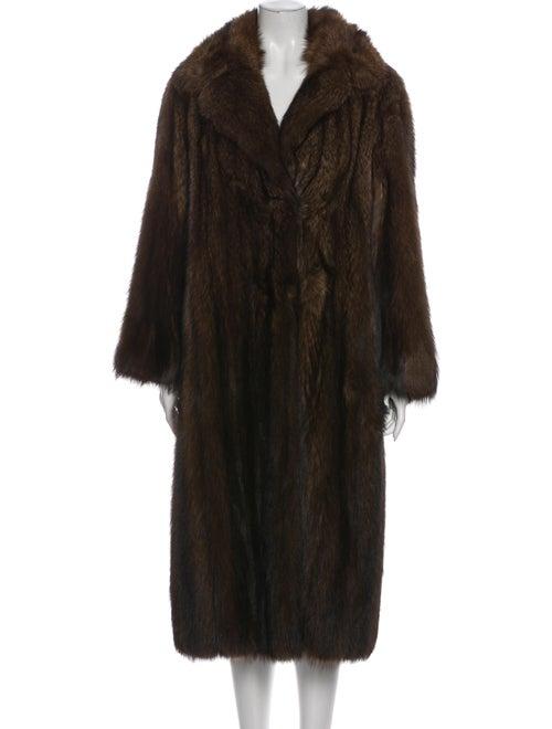 Fur Fur Coat Brown