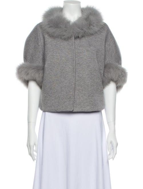 Fur Cashmere Faux Fur Jacket Grey