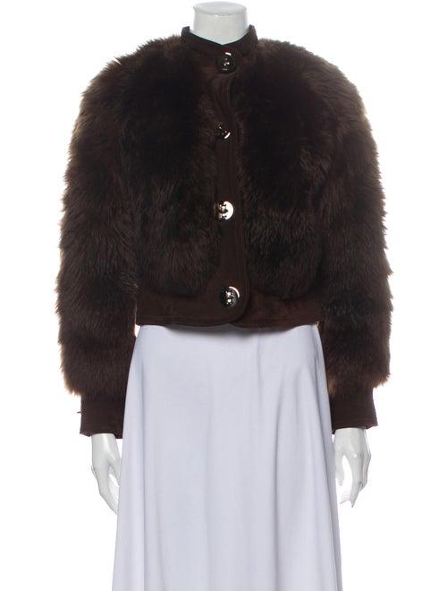 Fur Suede Faux Fur Jacket Brown