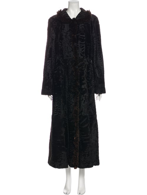Fur Fur Coat Black