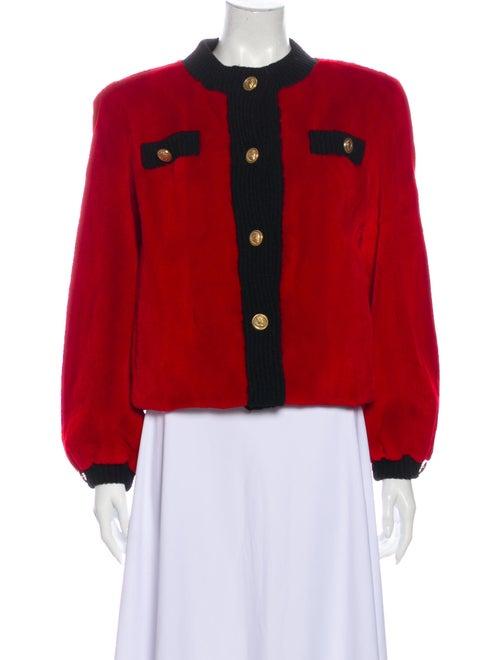 Fur Fur Jacket Red