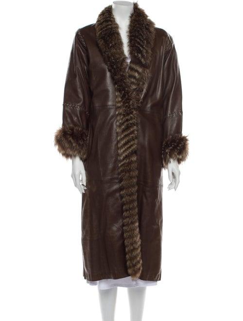Fur Faux Fur Coat Brown