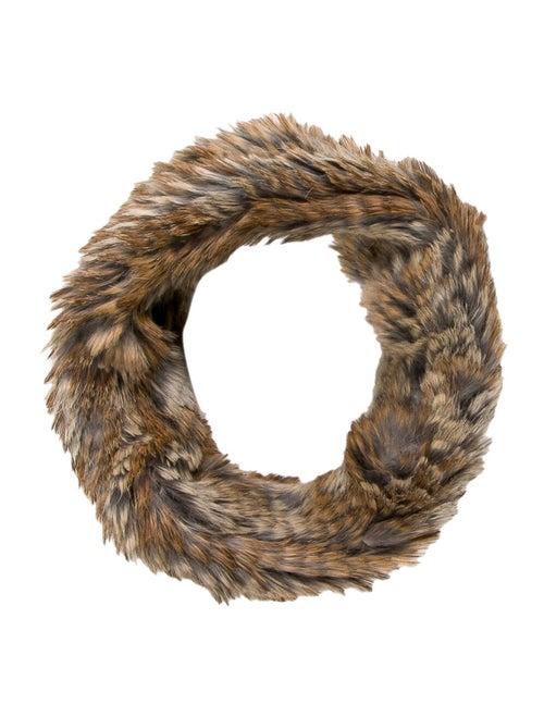 Fur Rabbit Fur Snood Brown
