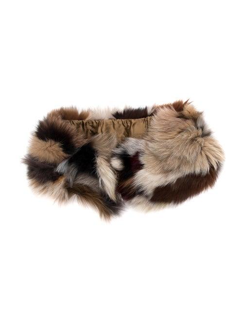 Fur Fur Stole Brown