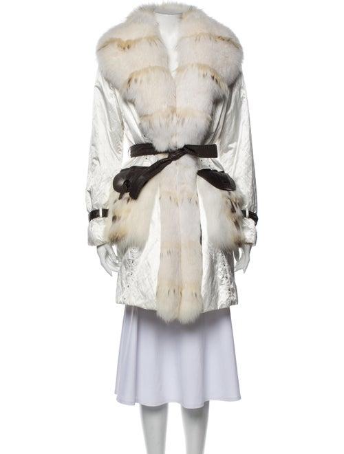 Fur Trench Coat White