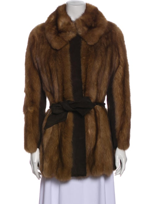 Fur Fur Jacket Brown