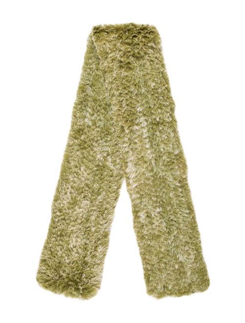 Fur Fur Stole Green - image 1