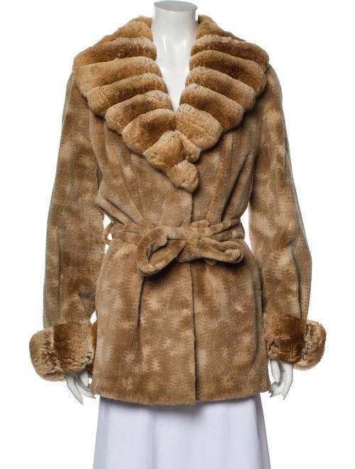 Fur Fur Coat Orange