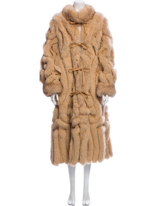 Fur Patchwork Fox and Suede Fur Coat