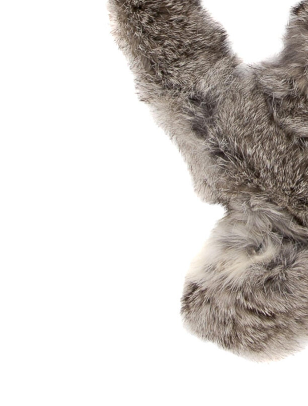 Fur Fur Stole Brown - image 2