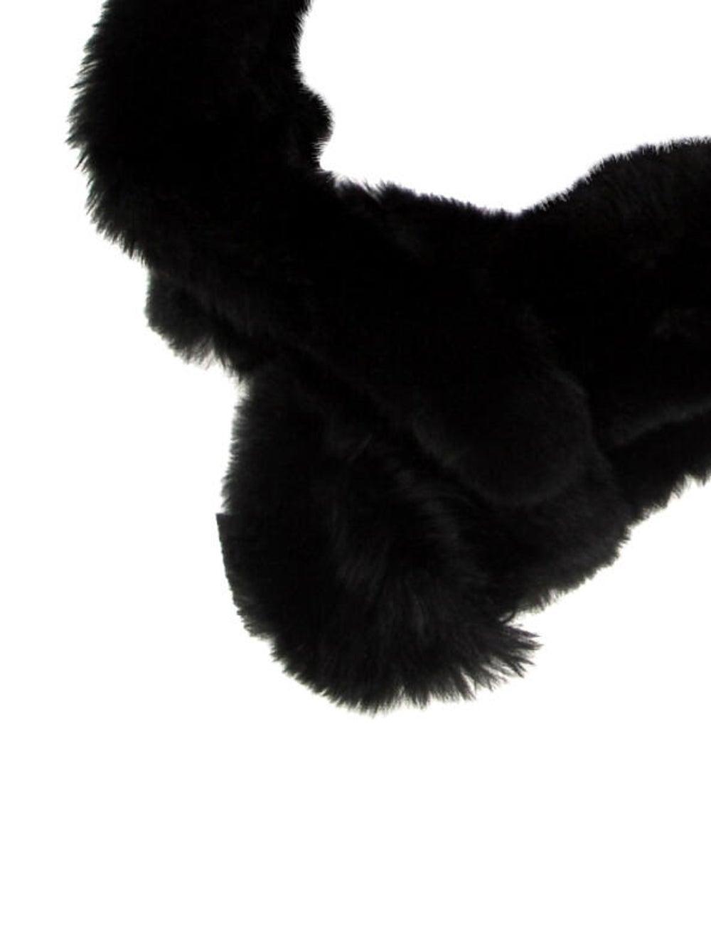 Fur stole Black - image 2