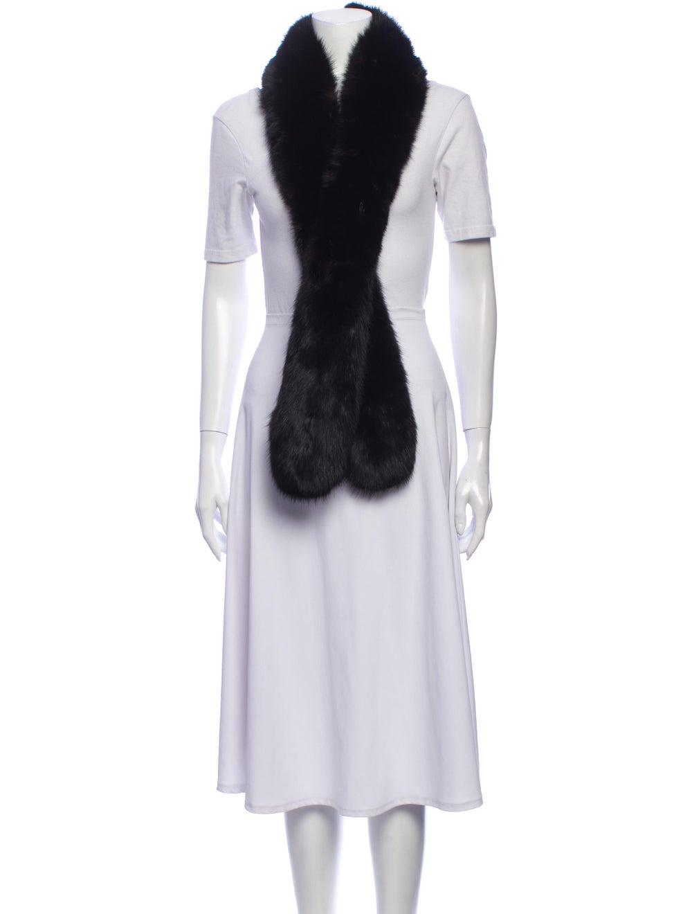 Fur Stole Black - image 3