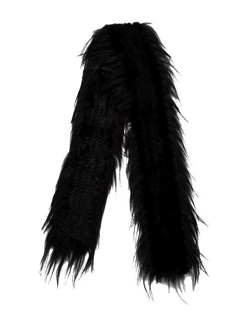 Fur Fur Stole Black - image 1