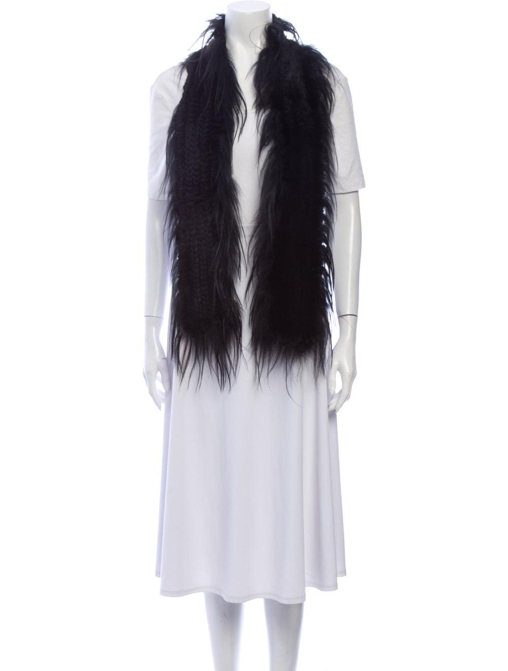 Fur Fur Stole Black - image 3