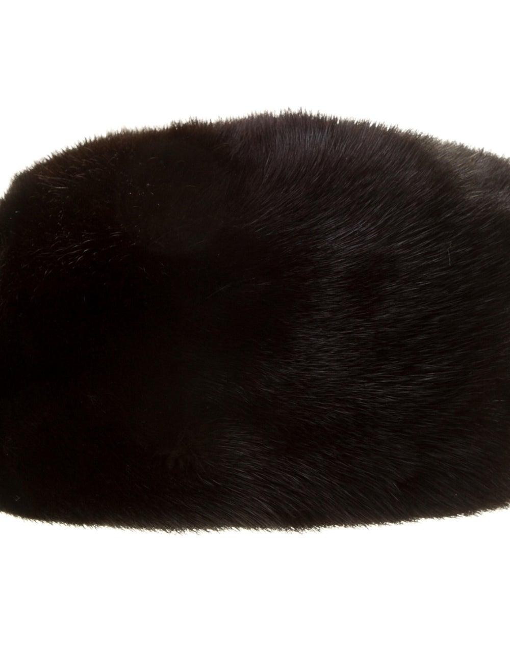 Fur Mink Fur Beret Black - image 2