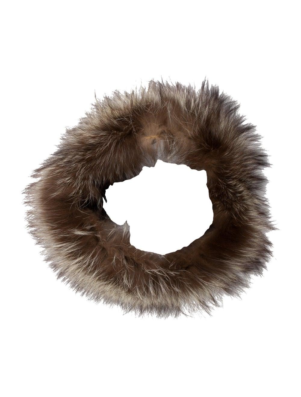 Fur Fur Stole Brown - image 1