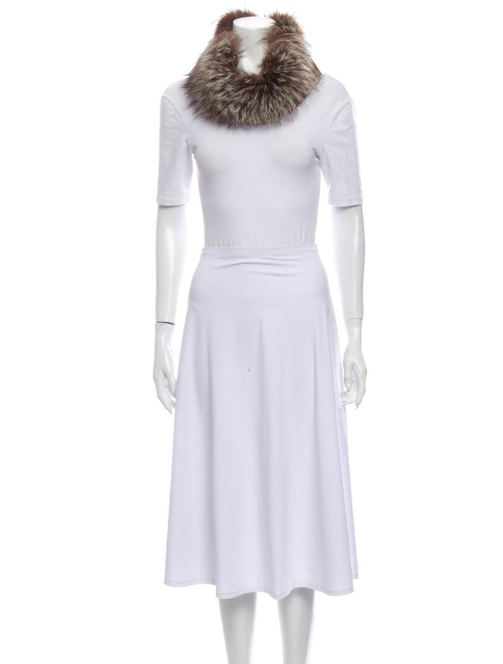 Fur Fur Stole Brown - image 3