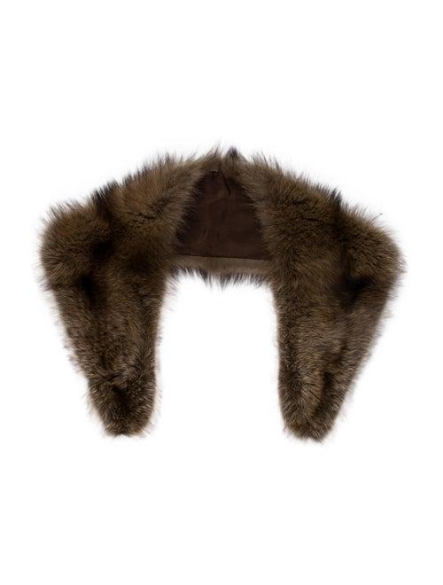 Fur Gray Fox Stole Brown