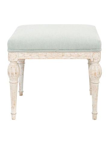 Upholstered Gustavian Stool