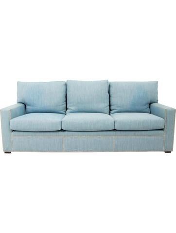 Upholstered Three-Seat Sofa