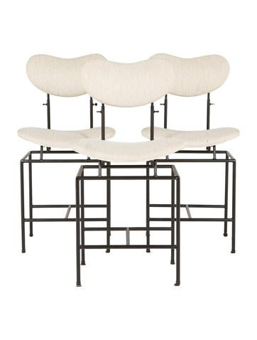Set of Three Counter Stools None