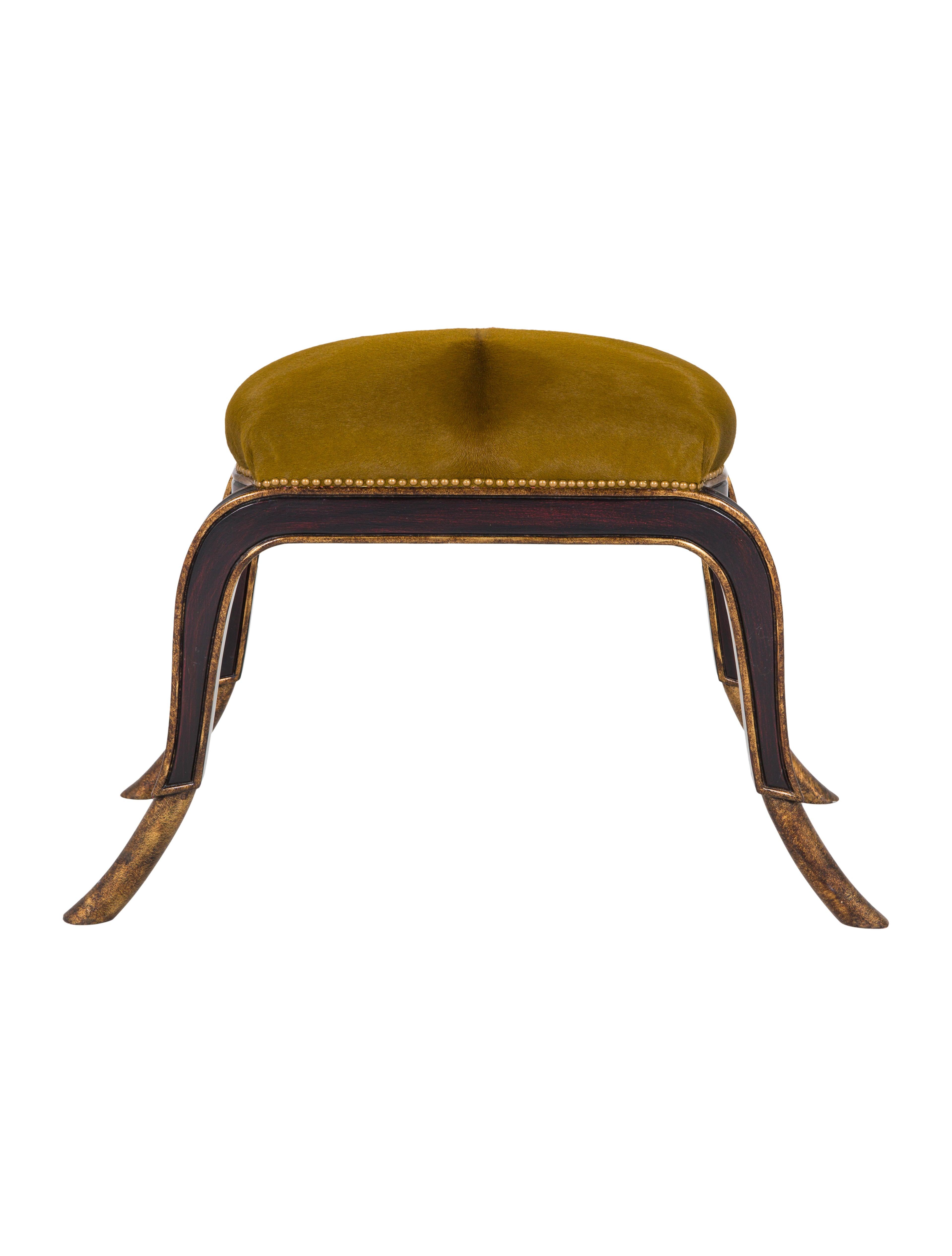 Cowhide Stool Furniture Furni20104 The Realreal