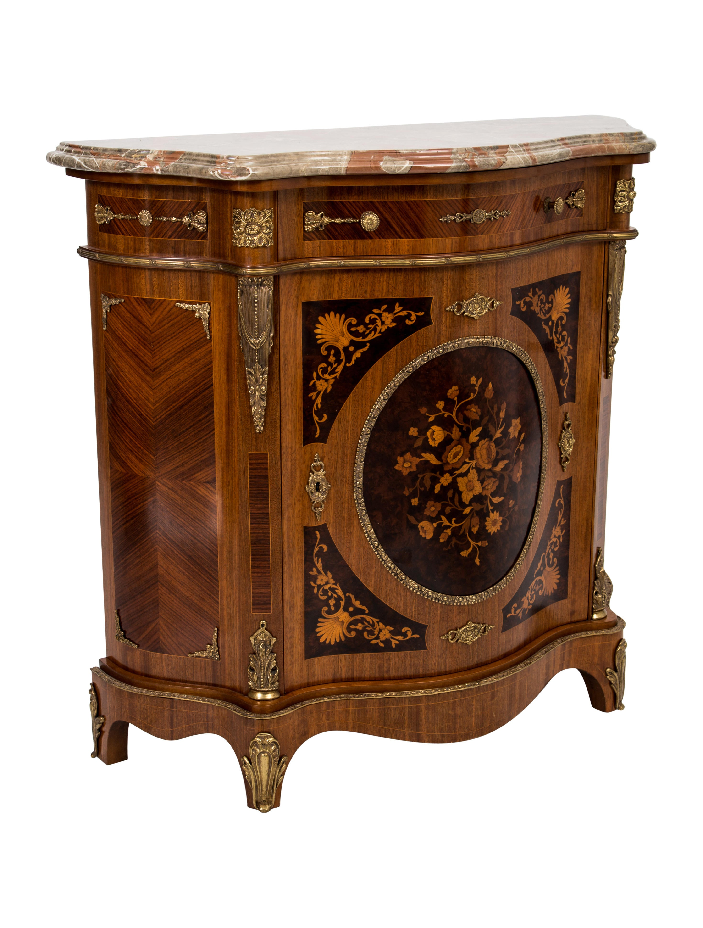 colombo mobili inlaid burlwood commode furniture