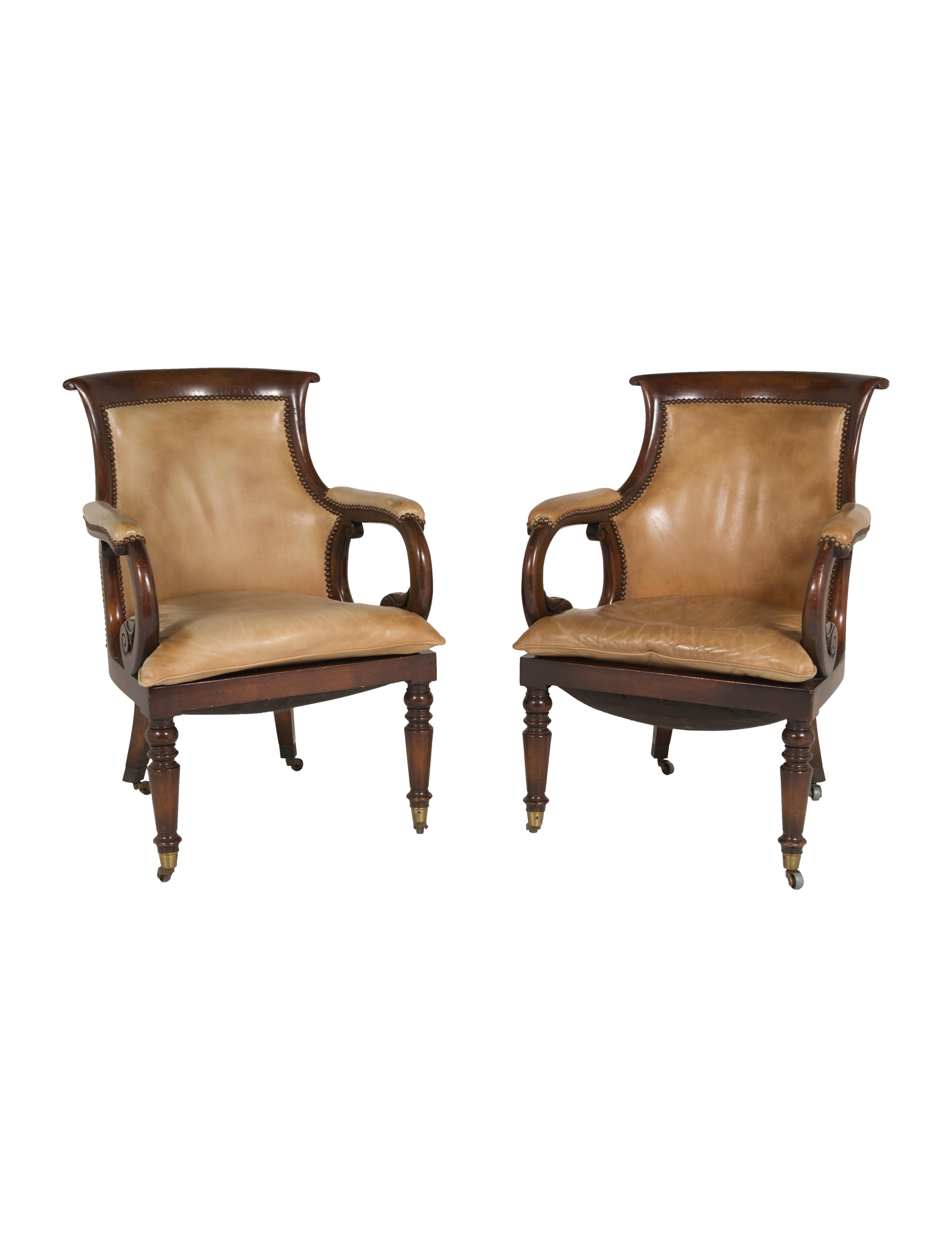 Pair Of 19th Century Regency Armchairs Furniture Furni20318 The Realreal