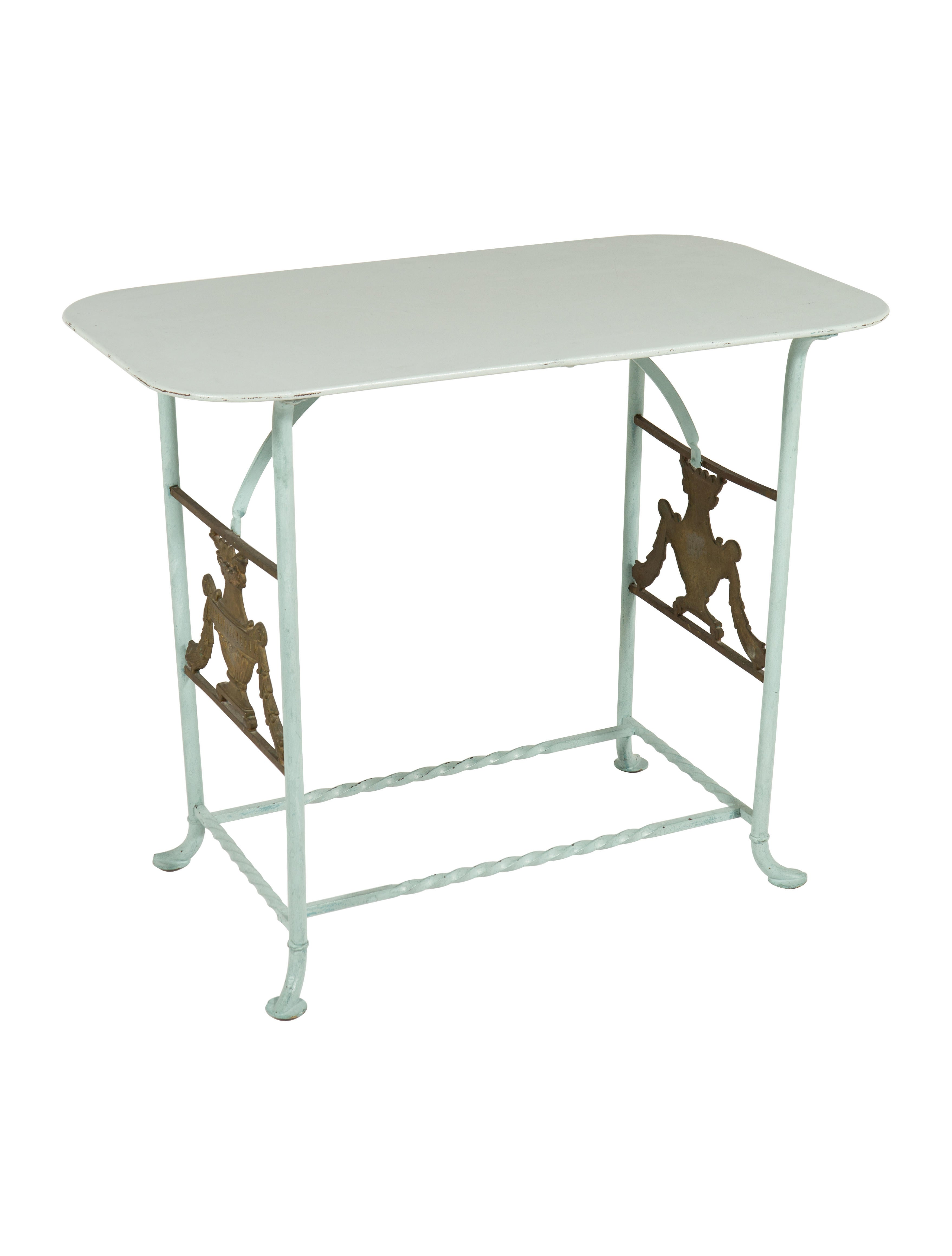 Iron Side Table ~ French iron side table furniture furni the realreal