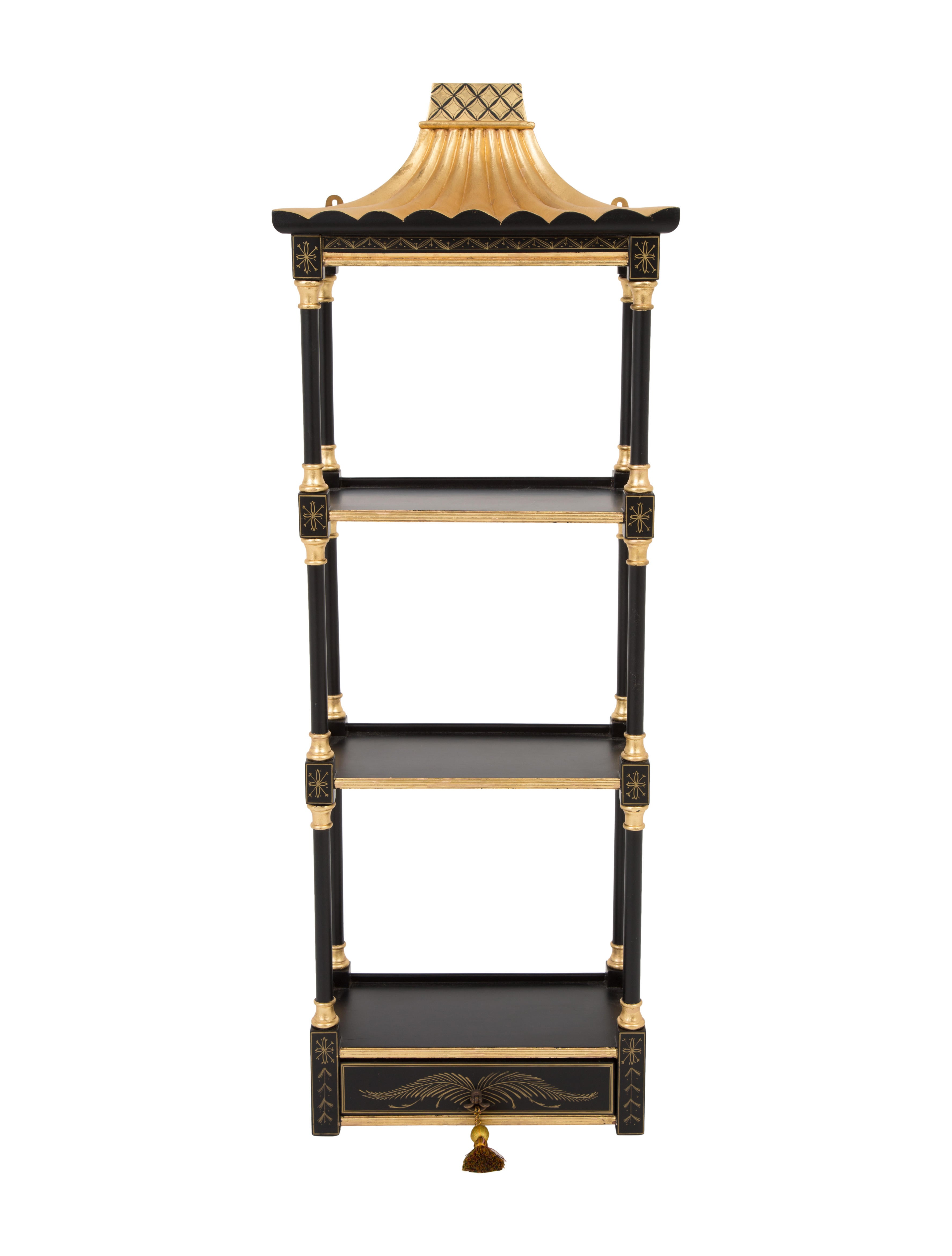 chinese pagoda style etageres furniture furni20389. Black Bedroom Furniture Sets. Home Design Ideas