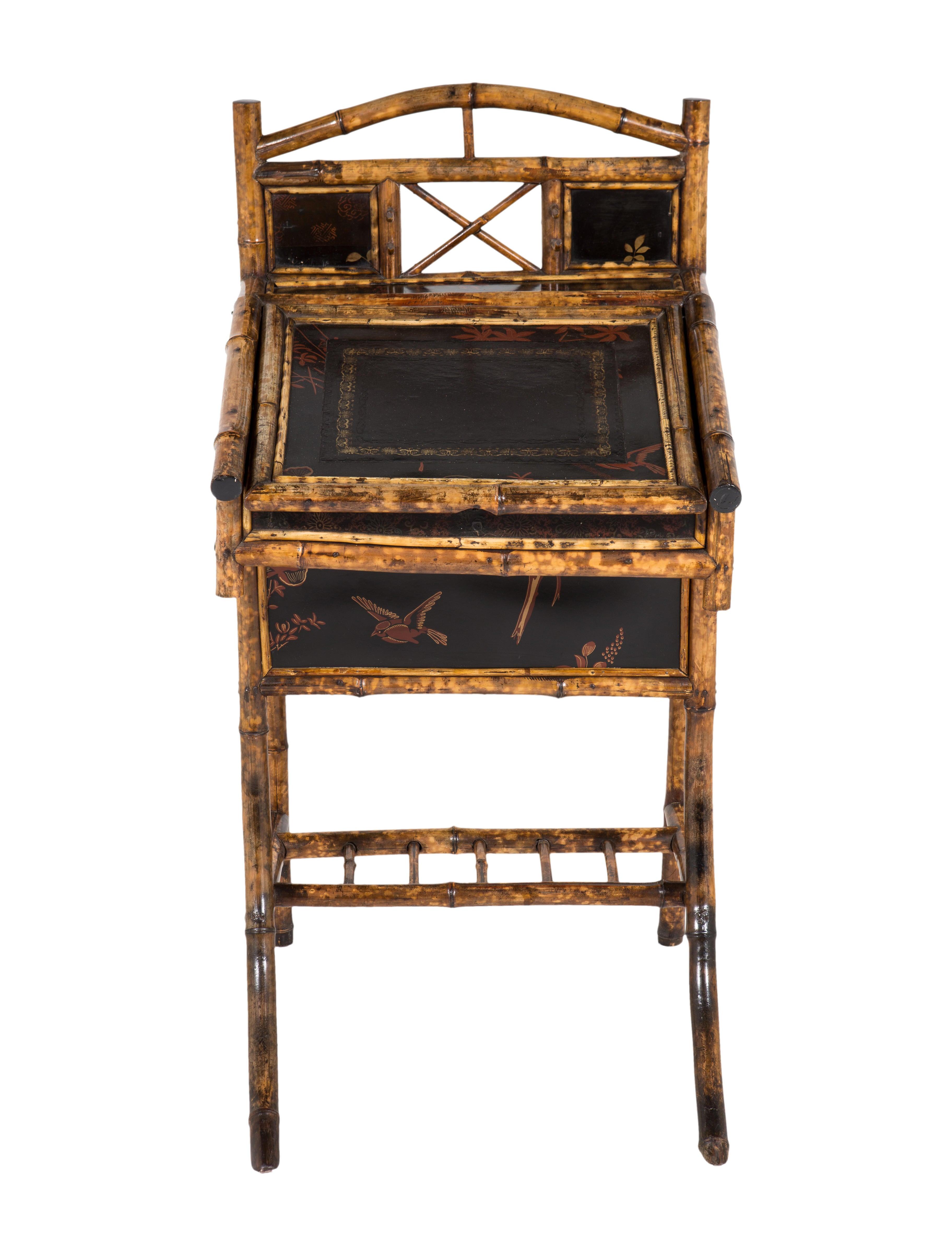 English Bamboo Chinoiserie Nightstand Furniture Furni20411 The Realreal