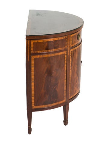 Regency Style Demilune W Glass Top Furniture Furni20424 The Realreal
