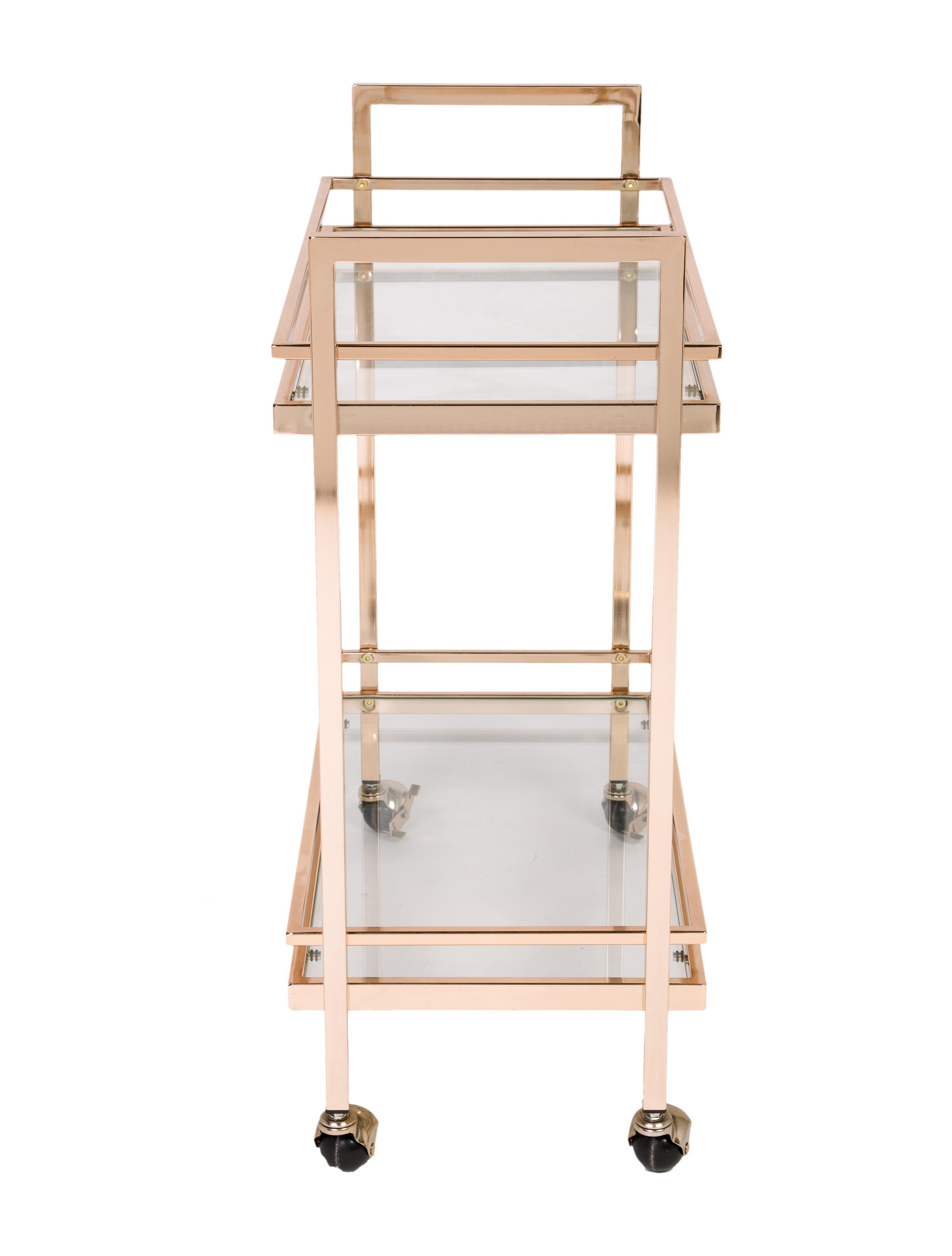 brass bar cart furniture furni20543 the realreal. Black Bedroom Furniture Sets. Home Design Ideas