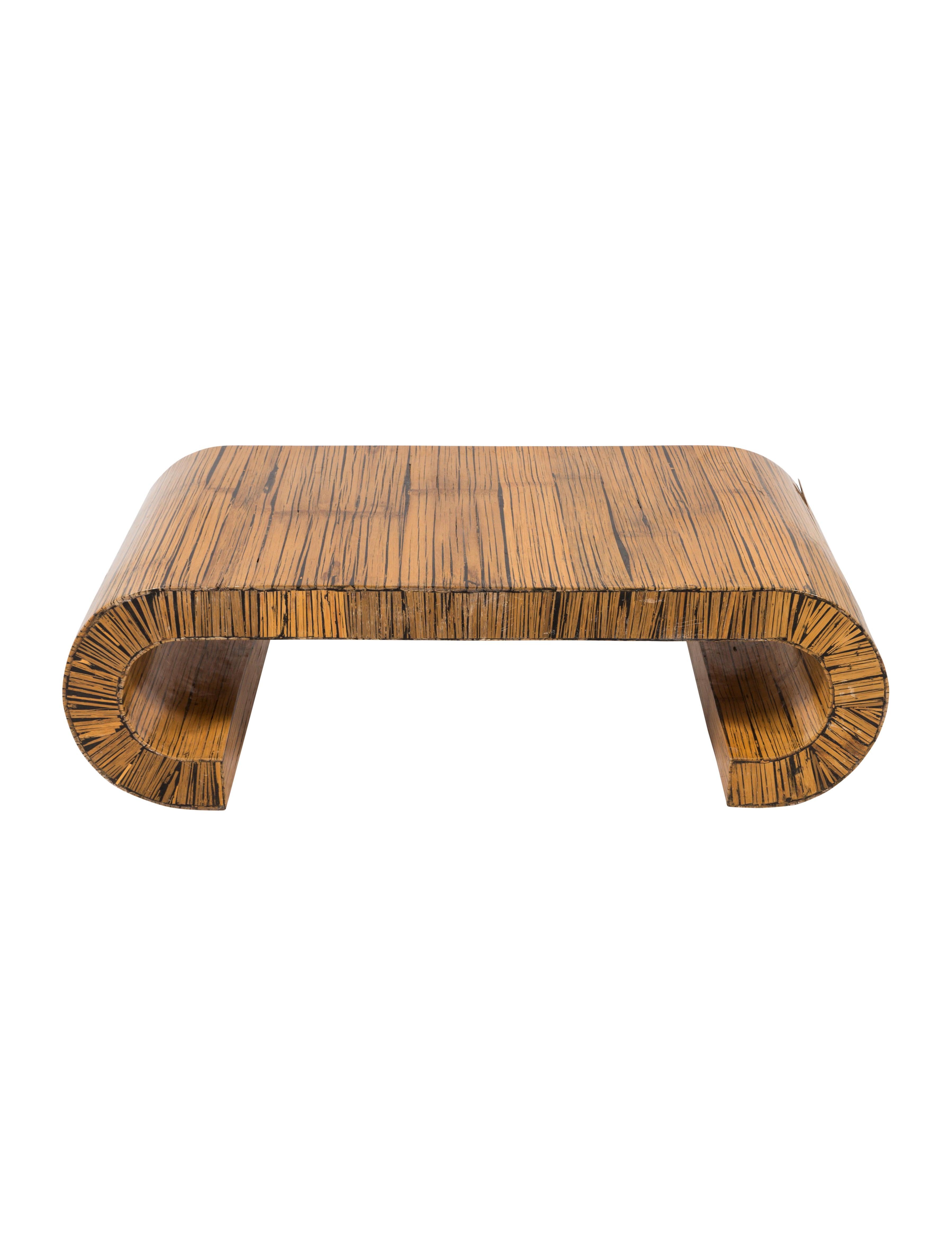 Curved Wood Coffee Table Furniture Furni20550 The