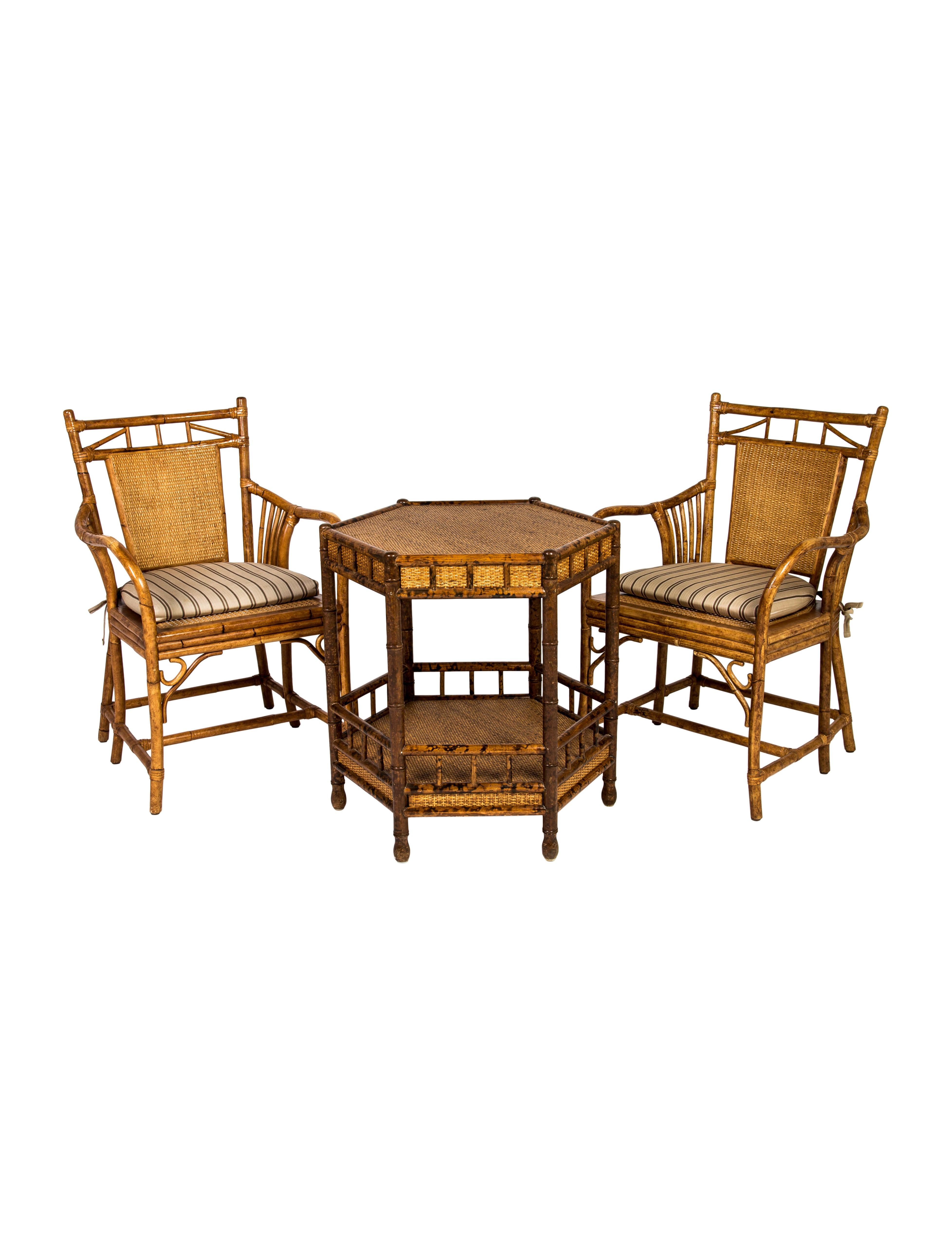 Bamboo chairs side table furniture furni20594 the for Bamboo side table