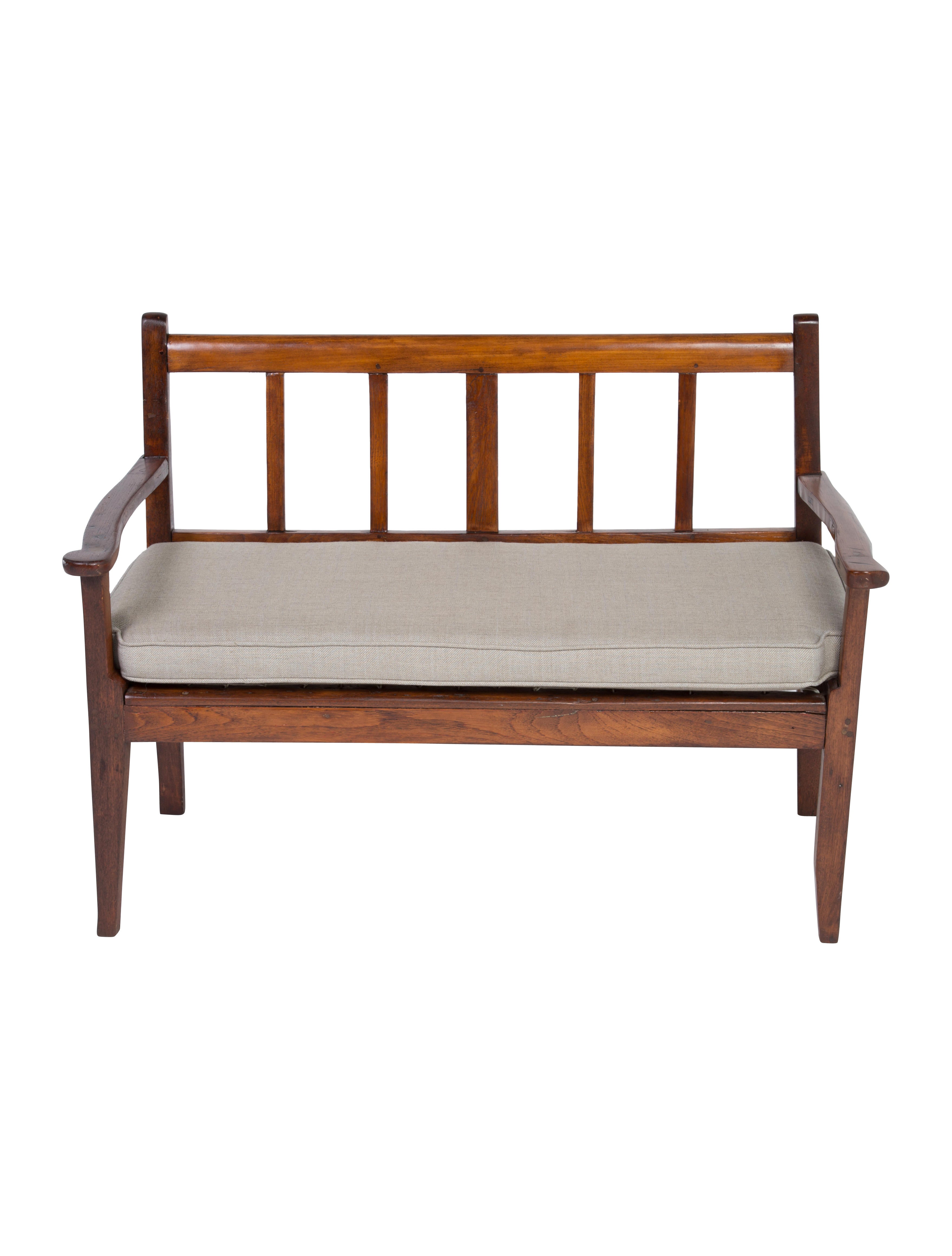 19th Century Walnut Bench Furniture Furni20735 The