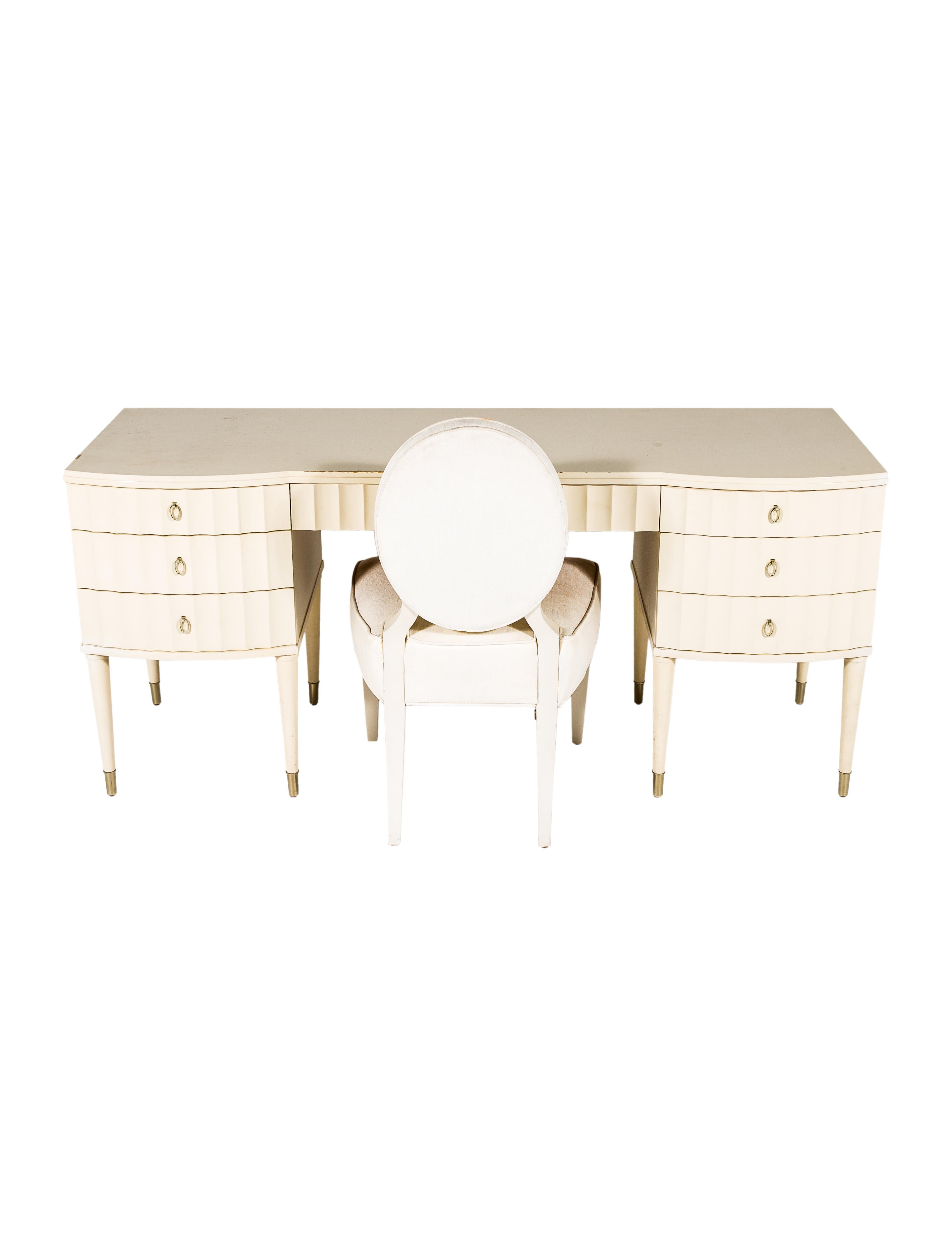 Barbara Barry For Henredon 2 Piece Las Desk And Chair