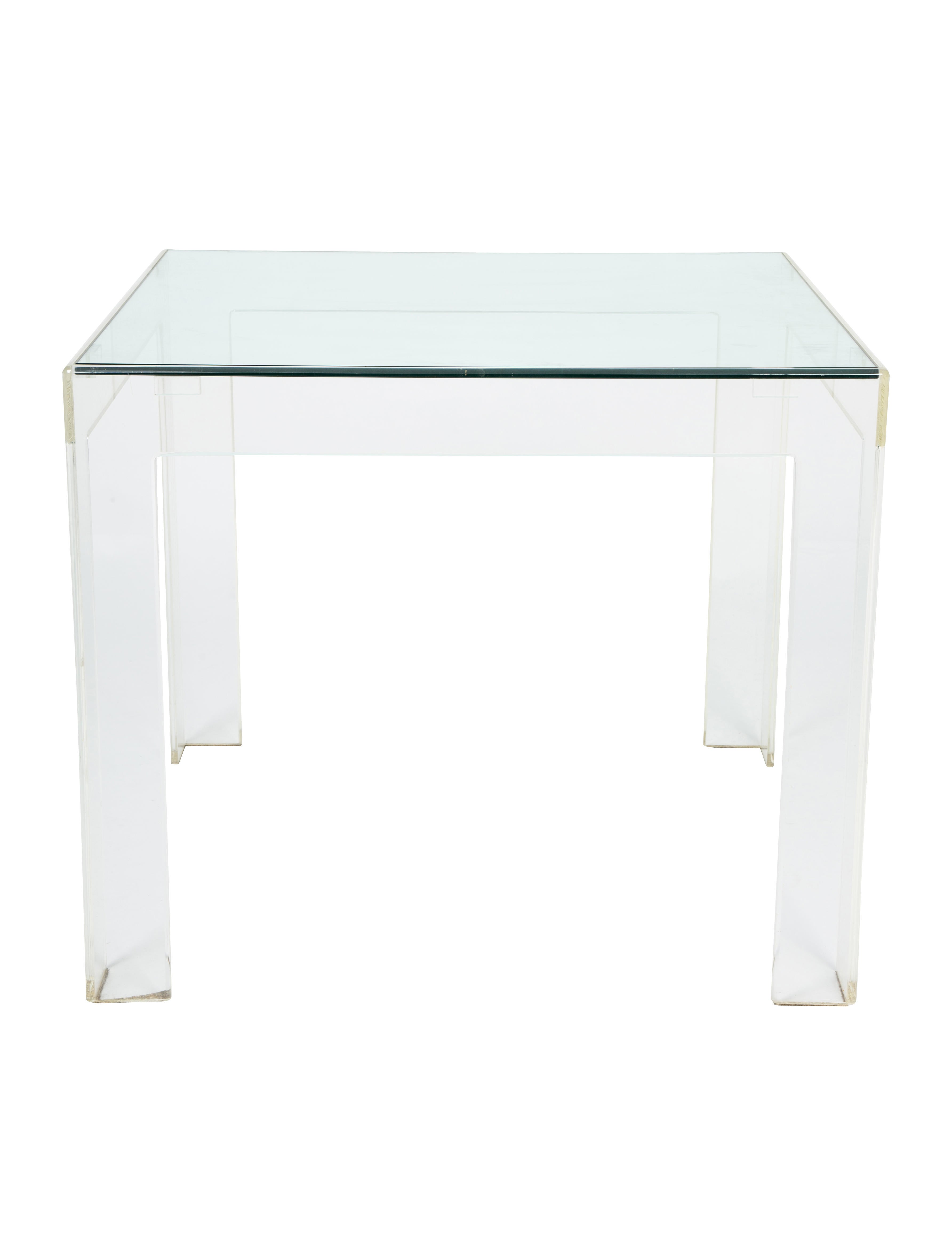 Glass Top Acrylic Center Table