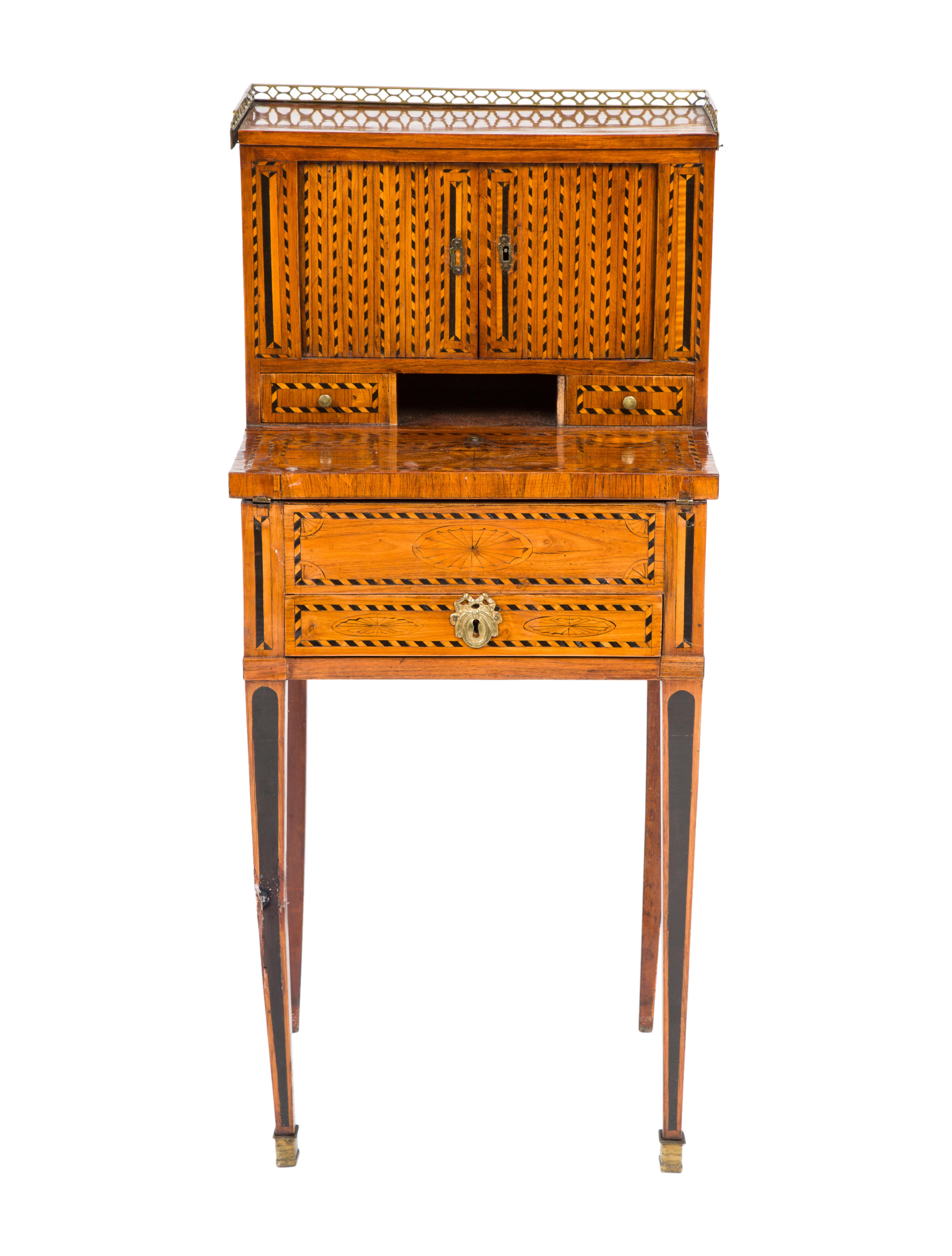 writing secretary home desk enlarged products furniture marquetry antique office