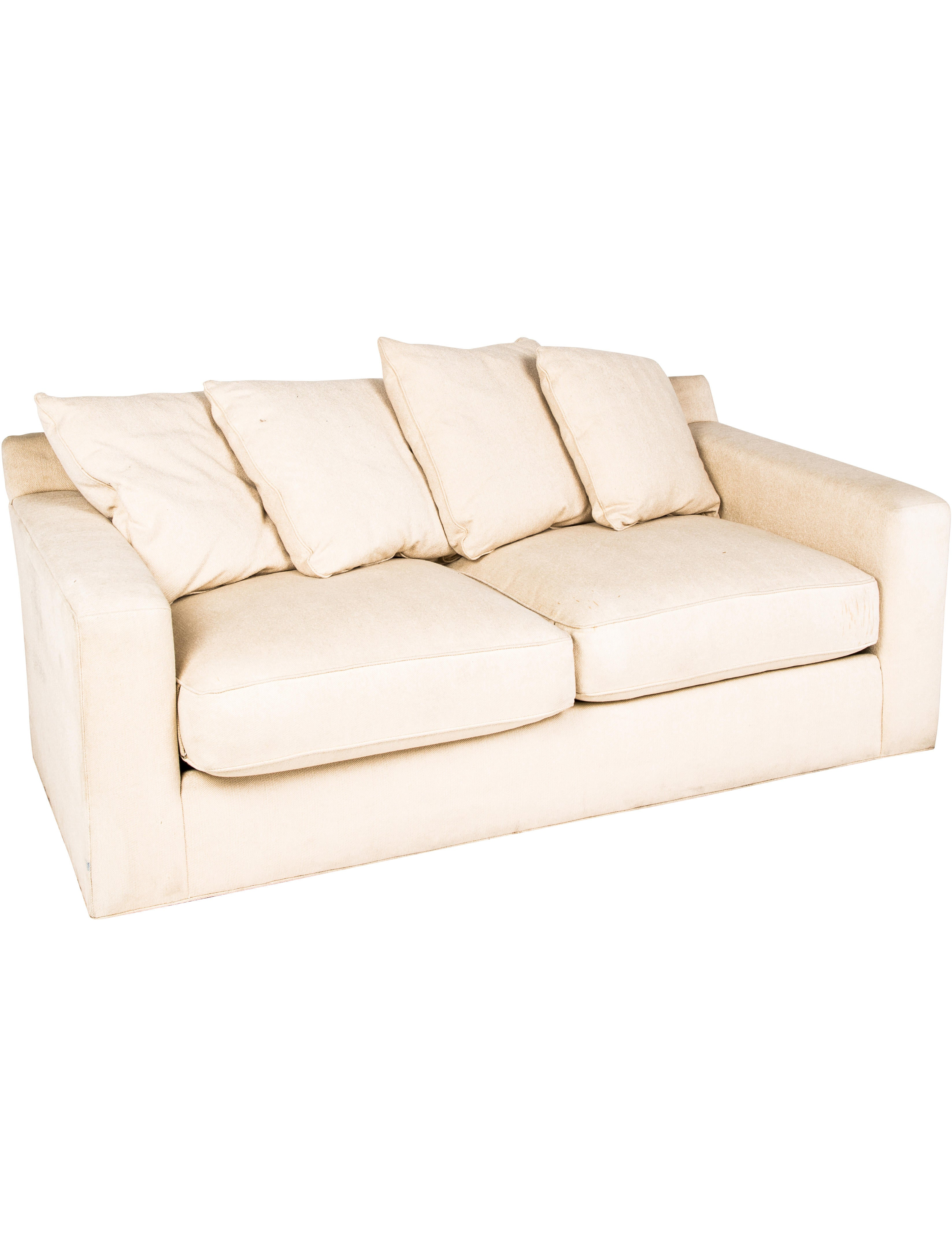 Hickory White Upholstered Sofa