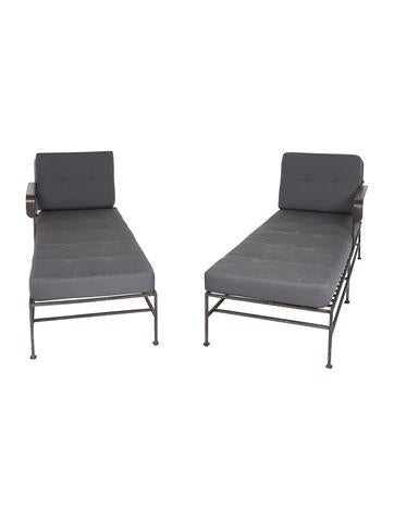 Pair Of Outdoor Chaise Lounges
