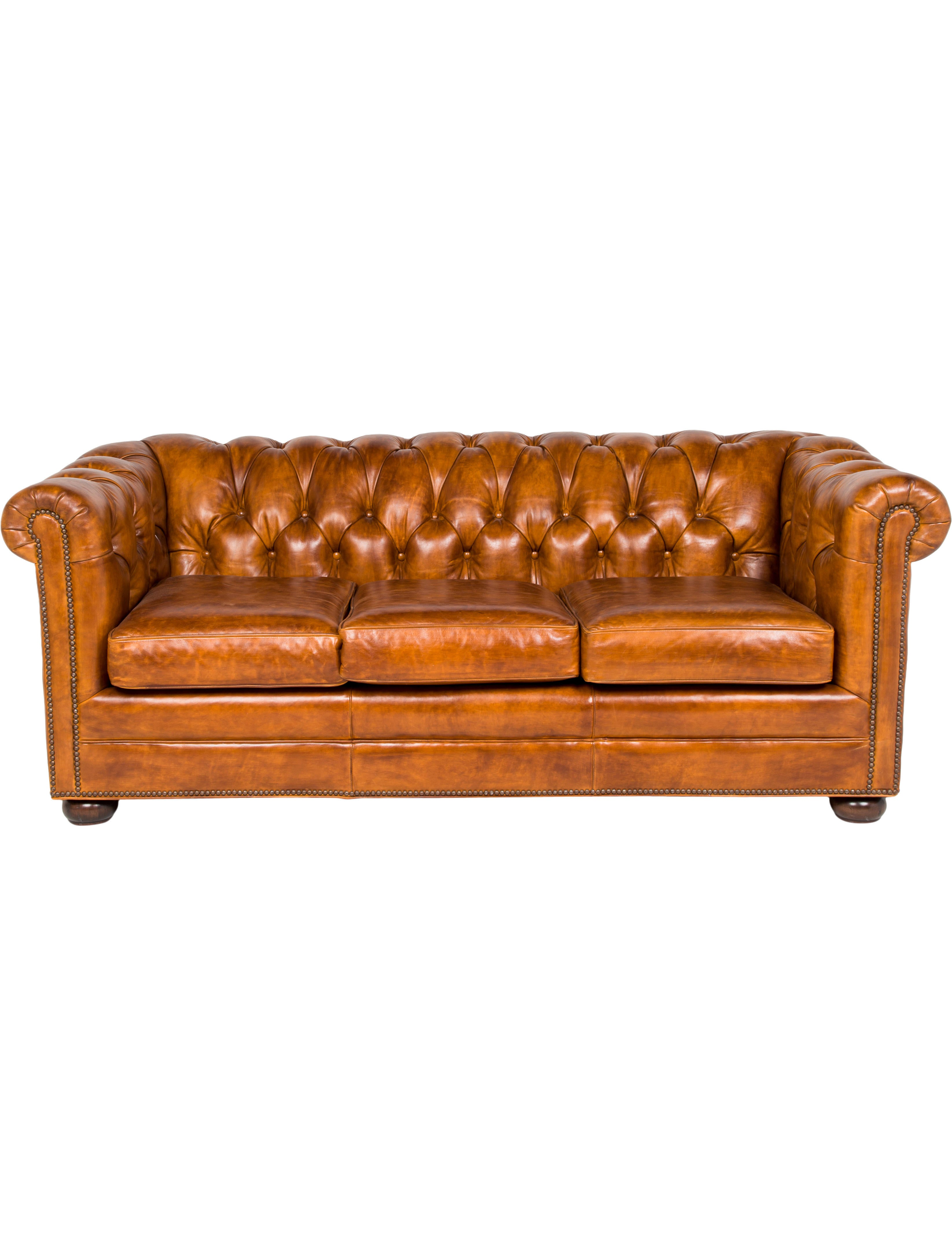 Han Moore Kent Leather Chesterfield Sofa Furniture