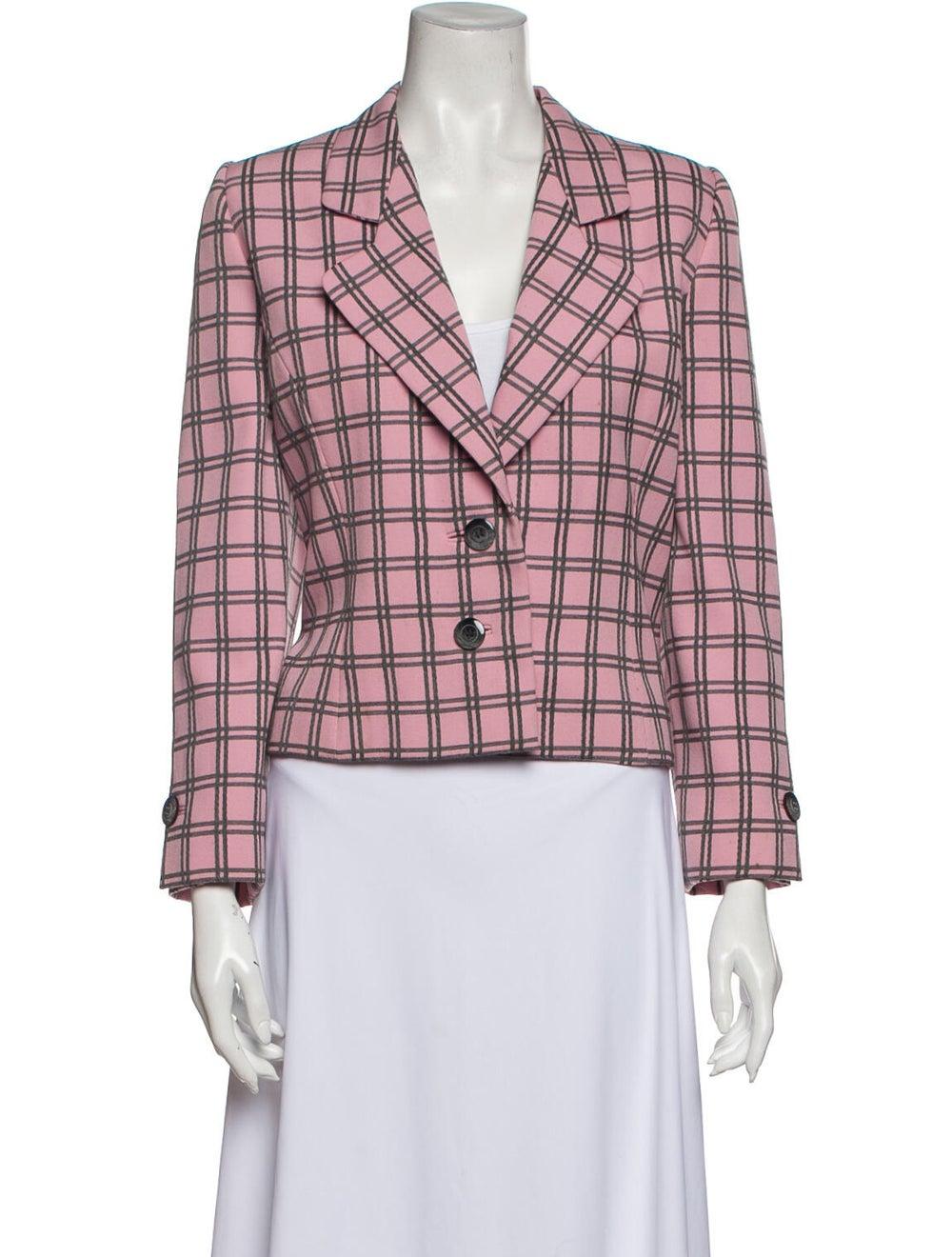 Galanos Vintage Grid Blazer Pink - image 1