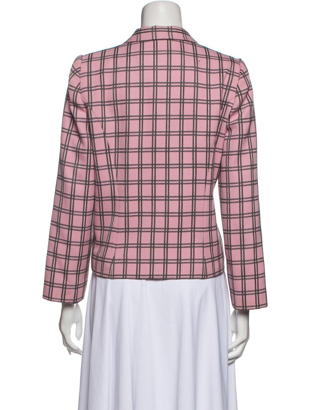 Galanos Vintage Grid Blazer Pink - image 3