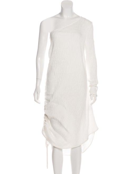Georgia Alice One-Shoulder Midi Dress White
